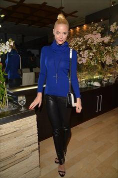 Jaime King in our RTW Aggy Leather Pants