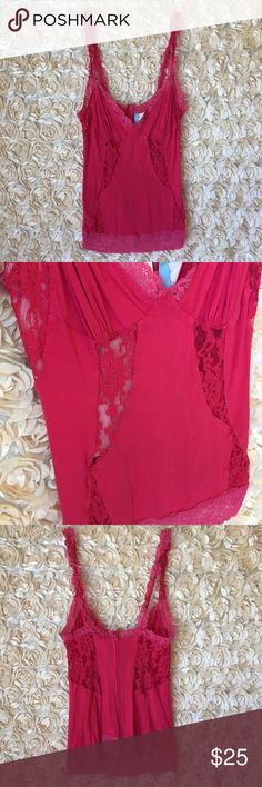 Guess Marciano Pink Lace Tank Guess Marciano Bright Pink Lace Top. Size Medium. Guess by Marciano Tops Tank Tops