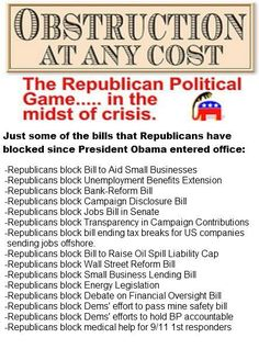 GOP: Obstruction...at any cost