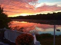 The view off my back deck, – overlooking he Kennebec river, Fairfield, Maine - photo by Marc Maheu