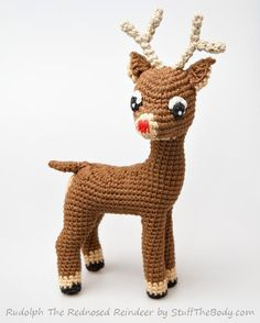 Christmas Reindeer (mod of Fawn pattern), free pattern