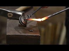 Blacksmithing - Forging a nail - YouTube