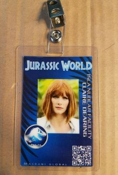 Jurassic World ID Badge - Claire Dearing costume prop cosplay jurassic park Park Birthday, 4th Birthday Parties, Birthday Ideas, Jurassic World Claire, Jurassic Park World, Jurassic Park Costume, Claire Dearing, Halloween Ideas, Halloween Costumes