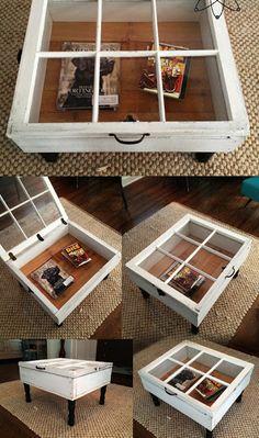 Hacer una mesa ratona a partir de una ventana