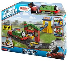 Full track layout with train-activated action features Includes motorized TrackMaster engine Redesigned TrackMaster engines feature enhanced speed and performance Toys 4 My Kids