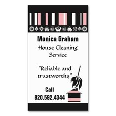 152 Best House cleaning Business Cards images in 2019