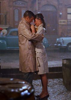 Audrey Hepburn and George Peppard - Breakfast at Tiffany's final scene
