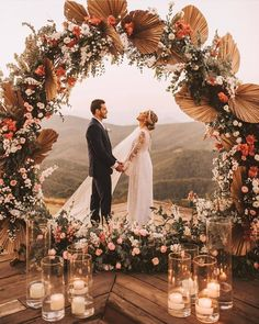 festivalbrides So. Very. Beautiful 😍. Just look at those flowers + the incredible view ❤️