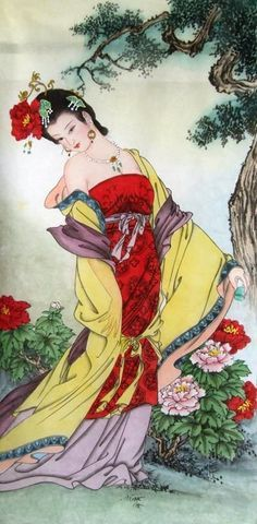 Save compared to your local store by good figure painting artists. Geisha Kunst, Geisha Art, Figure Painting, Painting & Drawing, Art Asiatique, Goddess Art, Asian Doll, China Art, China Painting