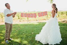 wedding thank you banner!