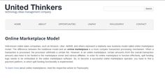 Online #marketplace model and it's features are fully described on #UnitedThinkers website: https://unitedthinkers.com/online-marketplace-model/