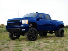 Blue Chevy truck. I want this!!! This is so freaking cool!!
