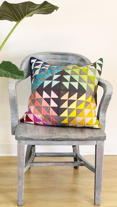 Baby Pillow Embroidery - - How To Make Big Pillow - Baby Pillow Bed - Pillow DIY Decorative - Rustic Christmas Pillow Patchwork Pillow, Quilted Pillow, Small Quilts, Mini Quilts, Baby Pillows, Bolster Pillow, Throw Pillows, Half Square Triangle Quilts, Pillow Inspiration