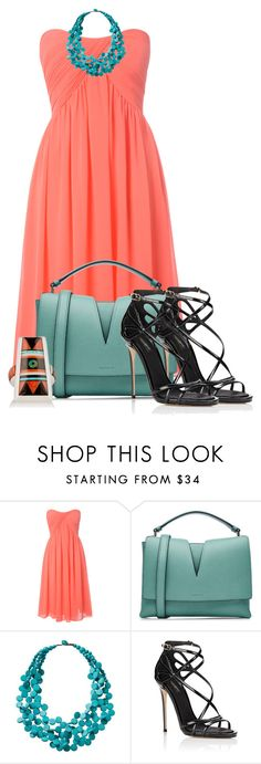 """""""Black, Coral and Turquoise"""" by tlb0318 on Polyvore featuring Glamorous, Jil Sander, TravelSmith and Dolce&Gabbana"""