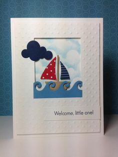 sailboat die: tailored expressions, wave die: clearly besotted, nautical, summer,  by beesmom - Cards and Paper Crafts at Splitcoaststampers