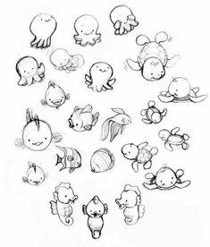 Art And Illustration, Animal Illustrations, Illustrations Posters, Cartoon Drawings Of Animals, Cute Animal Drawings, Cartoon Art, Cartoon Characters, Animals Tattoo, Art Du Croquis
