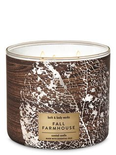 Fall Farmhouse Candle by Bath & Body Works Fall Farmhouse Candle - Bath And Body Works Bath Candles, Oil Candles, 3 Wick Candles, Scented Candles, Candle Jars, Bath N Body Works, Bath And Body, Farmhouse Candles, Home Scents