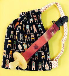 Mini bolsa para chupetes