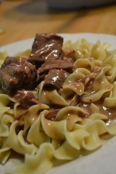 easy crock pot beef and gravy...yum & add some shredded carrots..!