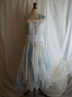 Fairy Wedding Dresses | Charity. Fairy Wedding Dress Upcycled Clothing Tattered Romantic Dress ...