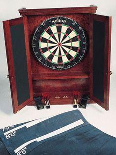 Handmade Dartboard Cabinet, Darts