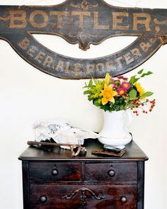 Design*Sponge Interview and Studio Tour with Cedric Smith. I like the combination of distressed and clean.