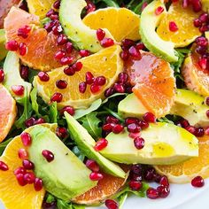 """""""I can't stop eating this salad"""" - said no one ever UNTIL they tried my Winter Citrus & Avocado Salad. Snappy arugula, tastebud teasing citrus and rich avocado....it's amazing. Clickable recipe in my profile! . . . . #dailyfoodfeed #spoonfeed #citrus #avocado #avocadolove #saladbowl #healthspo #fitfamily #foodbeast #feedfeed #EEEEEats #buzzfeedfood #yahoofood #thekitchn #f52grams #huffposttaste -#appehtite #appetite #TODAYfood #foodporn #foodiegram #foodstagram #forkyeah #eatingfortheinsta…"""
