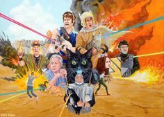 Laser Cats Painting by Bill Main now available in my Etsy shop!!!