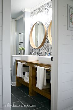 6 Super Genius Cool Ideas: Living Room Remodel Before And After Inspiration living room remodel with fireplace floor plans.Small Living Room Remodel Mobile Homes living room remodel on a budget ikea hacks.Living Room Remodel Before And After Inspiration. Diy Bathroom, Bathroom Mirror, Modern Farmhouse Bathroom, Home Diy, Bathrooms Remodel, Bathroom Design, Bathroom Decor, Inexpensive Decor, Bathroom Renovation