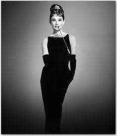 Audry Hepburn in classic Little Black Dress
