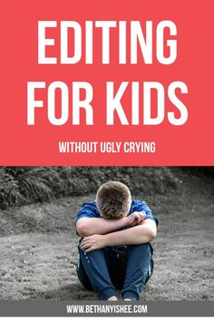 How to Introduce Editing for Kids Without Ugly Crying - Writing in your homeschool can be difficult for you and your child. Editing for kids can be especially difficult. Here are some tips to make the editing a little easier on you and your child. Our goal is to model self-editing so they can grow in their own skills as a writer. #homeschool #homeschoolwriting #homeeducation