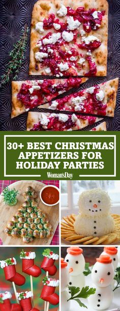 christmas snacks Start the festivities off right with these easy-to-make savory snacks. Start the party by tasting all of your favorite holiday flavors in the Roasted Cranberry and Goat Cheese Flatbread. Best Christmas Appetizers, Christmas Party Food, Xmas Food, Christmas Cooking, Christmas Desserts, Appetizers For Party, Christmas Treats, Holiday Treats, Christmas Fun