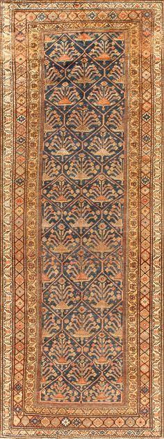 Antique Persian Bidjar Oriental Gallery Runner Rug 50670