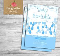 Baby Shower Invitation Baby boy Sprinkle Invite blue Sprinkle Baby Shower party invitation Sprinkle Shower by DesignedbyDaniN from Designed by Danin. Find it now at http://ift.tt/2blI01P!