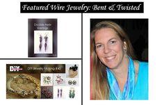 Meet Danielle Lewandowski of Bent & Twisted wire jewelry shop. Danielle's wire jewelry tutorial was featured in DIY Jewelry Making Magazine! Wire Jewelry, Jewelry Shop, Helix Earrings, Double Helix, Diy Jewelry Making, Beading, Magazine, Board, How To Make