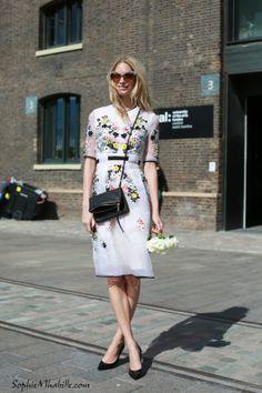 #poppydelevingne #white #fashion #dress #robe #flowers #flowery #blanc #women #streetstyle #style #look #outfit #streetfashion #street #women #mode #london #moda by #sophiemhabille