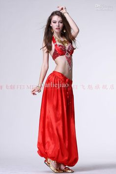 Wholesale Stage Wear - Buy 2013 New Arrival Belly Dance Dancing Costumes (bra with Rings Tops+harem Super Satin Latern Pants) 2pieces/set Stage Wear, $31.48 | DHgate