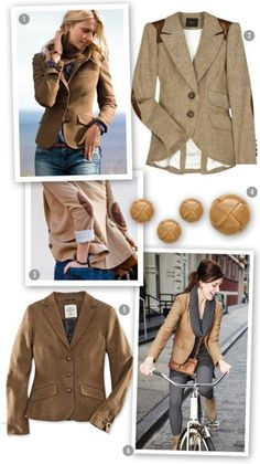 cute with the gray scarf---brown blazer