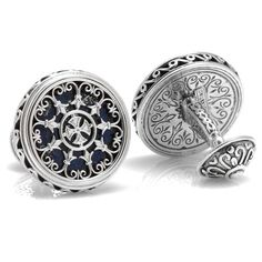 Select Gifts Sterling Engraved Cufflinks U.S Navy Chief Red E-7 Damage Controlman DC