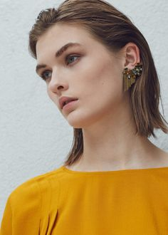 Faceted crystal earring - Jewellery for Women | MANGO USA
