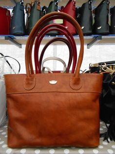 Italian Veg Tan Large Leather Tote Bag