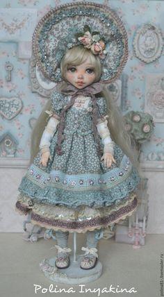 Купить Доминик - голубой, кукла ручной работы, кукла в подарок, кукла интерьерная, кукла с мишкой