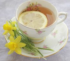 A cup of sunshine!  http://bellasrosecottage.blogspot.com/2012/03/yellow.html