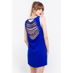 – Shift dress with back fringe detail – Sleeveless – Lined – Side invisible zipper with hook & eye closure – Color: Royal Blue Size + Fit – Model is wearing size S – Measurements taken from size S – Front length: – Chest: – Waist: 37 Cute Dresses, Formal Dresses, Dress Cake, Fringe Dress, Fitness Models, Photos, High Neck Dress, Elegant, Instagram