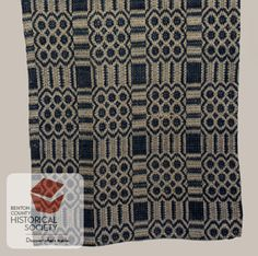 19th century american overshot coverlets - Google Search