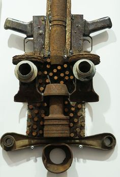 Goncalo Mabunda from Mozambique uses metal and recycled weapons as a source material for art and furniture.