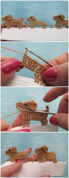 Crochet Puppies Edging