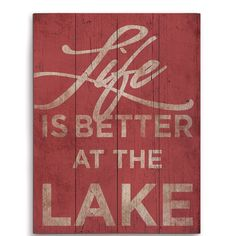 Loon Peak 'Life is Better at the Lake' Textual Art Loon Peak & # Das Leben ist besser am See Lake House Signs, Cabin Signs, Cottage Signs, Lake Signs, Lake Decor, Lake Art, Personalized Wall Art, Lake Cabins, Lake Cottage