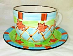 Mackenzie Child theme Cup & Saucer Plate inspired Set by JCP Home Collection Cooking Supplies, Espresso Cups, Tea Cup Saucer, Home Collections, White Porcelain, White Ceramics, Tea Pots, Plates, Children