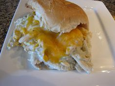 Pulled Chicken Suiza Sandwiches